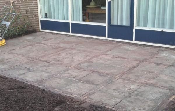 Aanleg nieuw terras